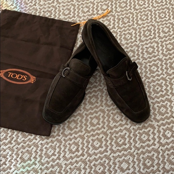 654404a768b ... Men s Tods Brown Suede Loafers. M 5c13edc0c9bf5053a9a4cbd3